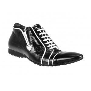 Pánské kožené sportovní boty černé