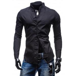 Černá elegantní košile pro pány BOLF