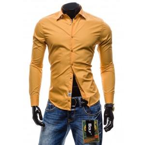 Stylová košile za skvělou cenu karamelové barvy BOLF