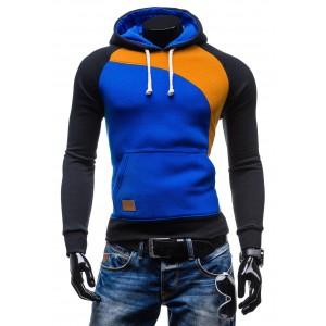 Moderní pánské mikiny pro muže modré barvy