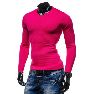 Růžový pánský svetr