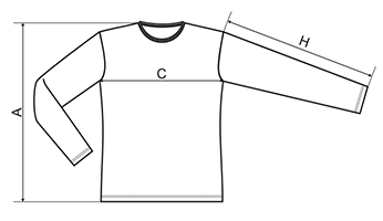 triko s dlouhým rukávem