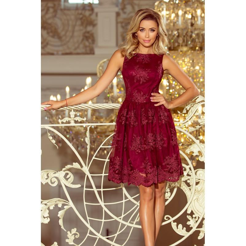 54d703807ac Krásné společenské šaty vínové barvy