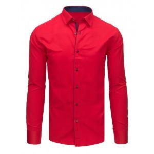 Červená košile pánská s dlouhým rukávem