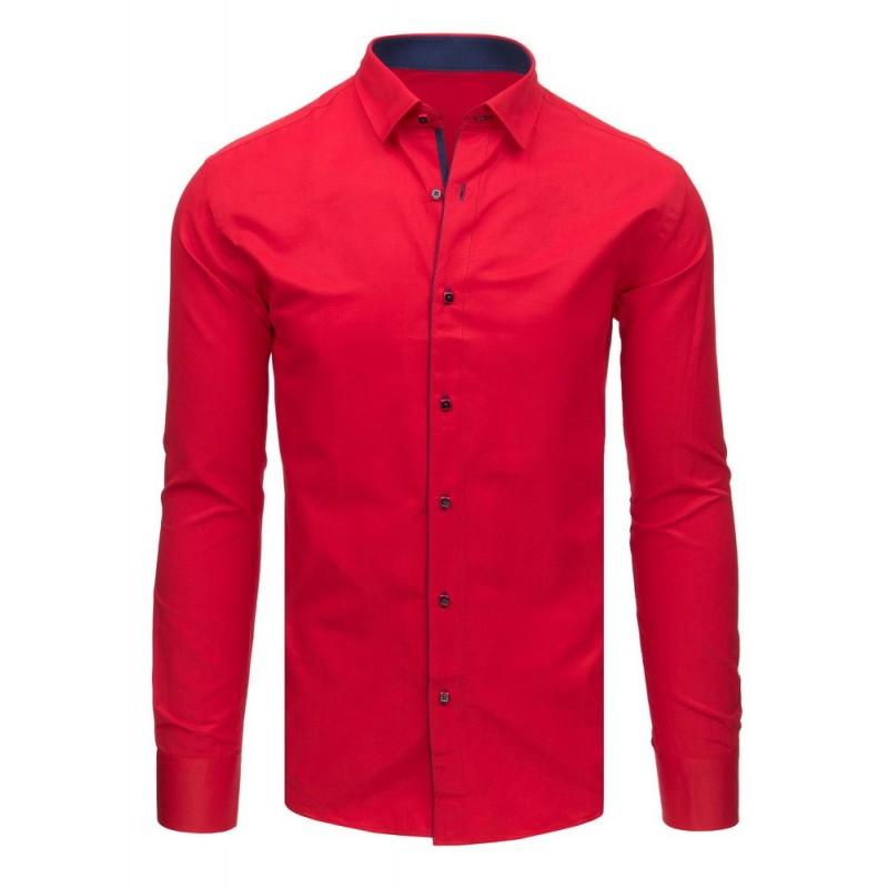 Červená košile pánská s dlouhým rukávem 7b9fed8d54