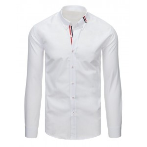 Bílá košile s dlouhým rukávem pro pány