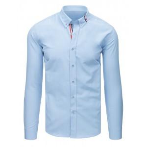 Luxusní pánská košile s dlouhým rukávem světle modré barvy