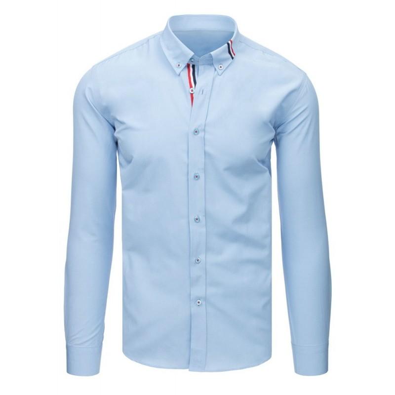 05def9f475d Luxusní pánská košile s dlouhým rukávem světle modré barvy