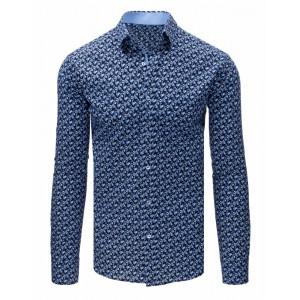 Moderní slim fit pánská košile se vzorem