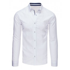 Elegantní pánská košile slim fit v bílé barvě
