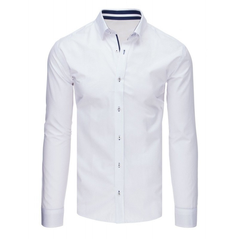 39c701bc293 Elegantní pánská košile slim fit v bílé barvě
