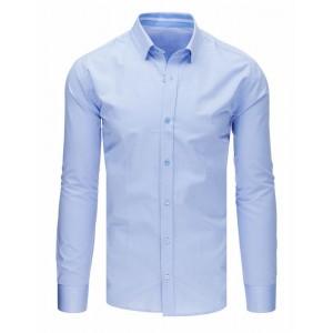 Pánská společenská košile s dlouhým rukávem v modré barvě