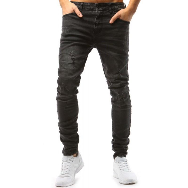 c197a75c29f Moderní pánské džíny v tmavě šedé barvě