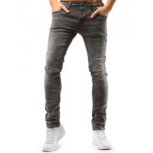 Pánské kalhoty slim světle šedé barvy