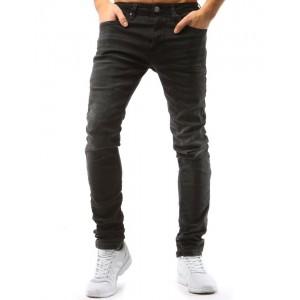 Černé pánské džíny klasického střihu