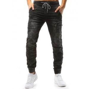 Šedé džíny pánské s boční kapsou