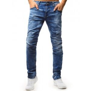 Moderní džíny modré barvy klasického střihu