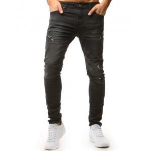 Stylové pánské roztrhané džíny černé barvy