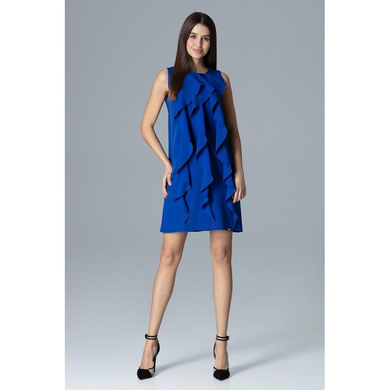 Společenské šaty modré bez rukávů 344404eeb0d