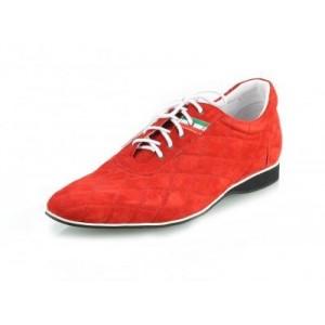 Pánské kožené sportovní boty červené