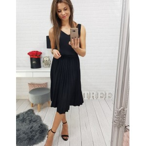 Luxusní sukně s elastickým pasem v černé barvě