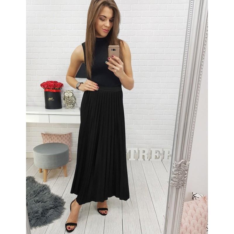 d3cbd0649bfd Dlouhá dámská plesová sukně černé barvy
