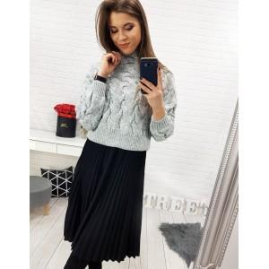 Krátká skládaná sukně pro dámy v černé barvě