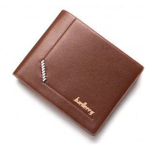 Pánská peněženka z ekokůže v hnědé barvě