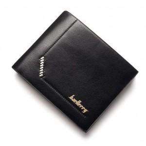 Černá pánská peněženka s detailem a prošitím