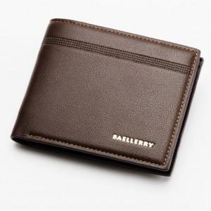 Peněženka pro muže v hnědé barvě s jemným detailem