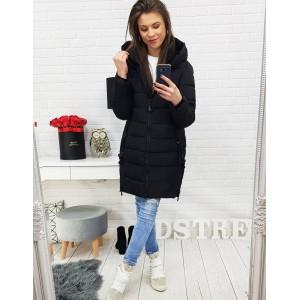 Luxusní prošívaná dámská bunda na zimu v černé barvě