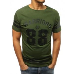 Pánské triko s potiskem v zelené barvě