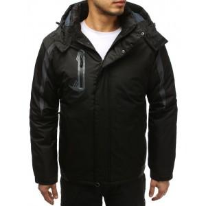 Kvalitní pánská lyžařská bunda s kapucí v černé barvě