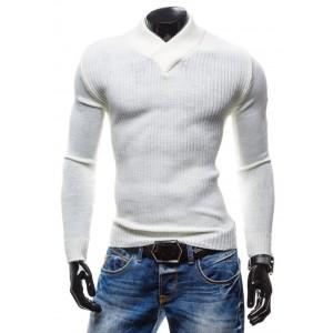 Tmavě modrá pánská košile s dlouhým rukávem s detailem na límci ... 003aa3f0d7