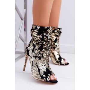 Elegantní dámské kotníkové boty na vysokém podpatku