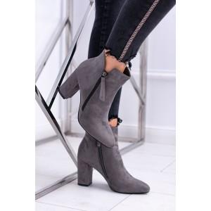 Dámské lehce zateplené kotníkové boty na zip