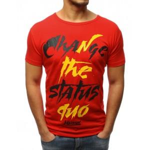 Červené pánské tričko s krátkým rukávem