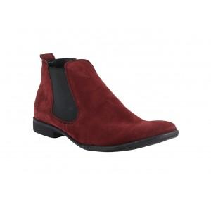 Pánské kotníkové boty červené barvy
