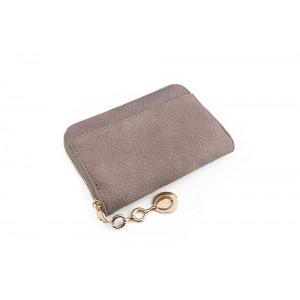 Béžová malá dámská peněženka s přívěskem