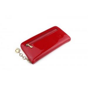 Dámská velká červená peněženka s přívěskem