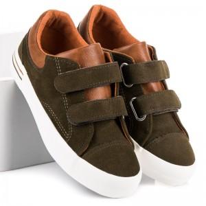 Chlapecké semišové boty hnědé barvy