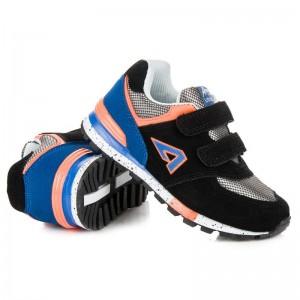 Černé semišové boty pro děti