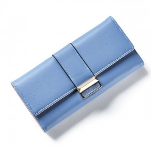 Modrá velká peněženka pro ženy