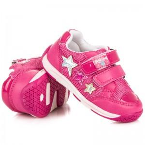 Pohodlná dětská obuv růžové barvy pro holčičky