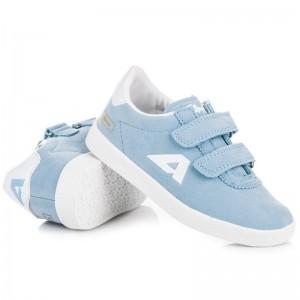Světle modré jarní boty pro děti
