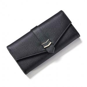Černá velká peněženka se zlatými detaily