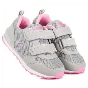 Jarní dětská sportovní obuv šedé barvy