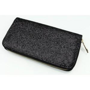Flitrová dámská peněženka černé barvy