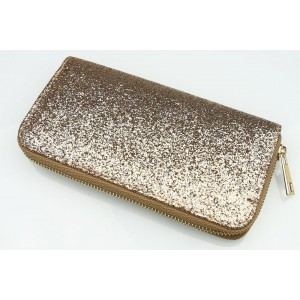 Dámská zlatá peněženka s flitry
