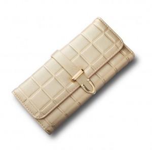 Stylová zlatá dámská peněženka velká